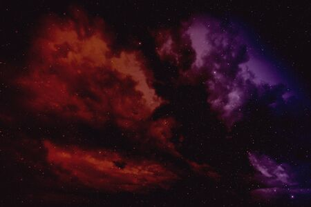 Space background with nebula and stars. Stock Photo
