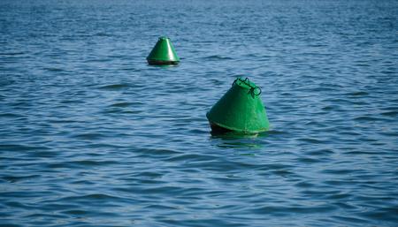 Old navigational buoy. Selective focus.