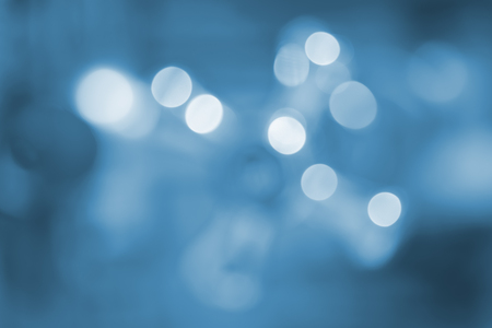 Abstract circular blue bokeh background. Stock Photo