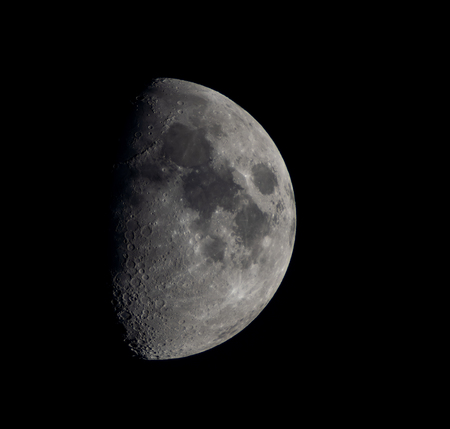 Photo of moon in amateur telescope. Фото со стока
