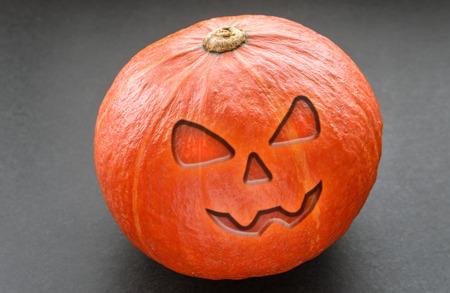 Halloween Pumpkin on dark background. 免版税图像