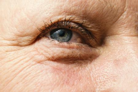 Human eye, macro shoot. Selective focus. Stock Photo