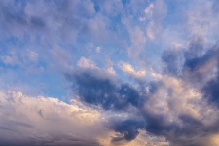 Beautiful sunset sky with clouds. Фото со стока