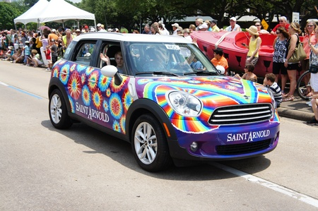 Houston, Texas - Sunday 22nd May 2011: 2011 Houston Art Car Parade sponsored by The Orange Show at Allen Parkway, from Bagby to Waugh Sajtókép