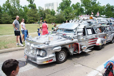 Houston, Texas - Sunday 22nd May 2011: 2011 Houston Art Car Parade sponsored by The Orange Show at Allen Parkway, from Bagby to Waugh Stock Photo - 9588876