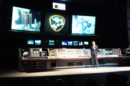Houston, Texas - 23rd April 2011 : NASA Space Center Houston, Mission Status Center, where Mission Briefing Officers provide live updates on current space flights and astronaut training activities