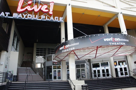 Houston, Texas - 24th April 2011 : The Verizon Wireless Theater (formerly Aerial Theater) is an indoor theater owned by Live Nation. The theater is located at 520 Texas Avenue in the 130,000-square-foot Bayou Place entertainment complex in Downtown