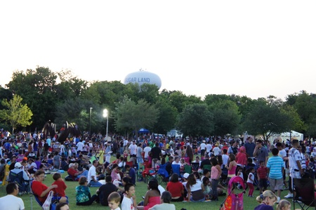 Houston, Texas - Monday 4th July 2011 : Sugar Land residents get fired up for the City%u2019s 26th annual Red, White and Bluefest ready to set the skies ablaze of Oyster Creek Park on Monday, July 4th from 5 to 10 p.m to celebrate America%u2019s 235th bi