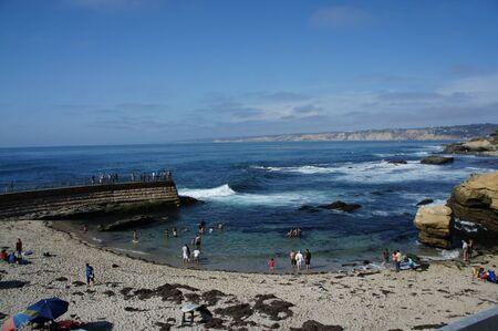 La Jolla Cove beach in San Diego, California with blue sky  Stock Photo - 10484504