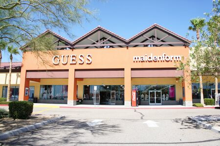 barstow: Barstow, California - August 29 2011 : Barstows Tanger Outlet Mall on I-15 between Southern California and Las Vegas, Nevada Editorial