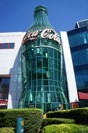 Las Vegas, Nevada - August 30 2011 : Coca-Cola store is a retail store that specializes in everything Coca-cola and is located in the Las Vegas Strip in Paradise, Nevada