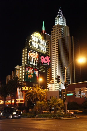Las Vegas, Nevada - September 2, 2011: Manhattan skyline featured at the New York Hotel on the famous Las Vegas Strip Stock Photo - 10793123