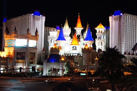 Las Vegas, Nevada - September 2 2011: Excalibur Casino and Hotel, named for the mythical sword of King Arthur, features the Arthurian theme in Las Vegas Strip, Las Vegas, Nevada