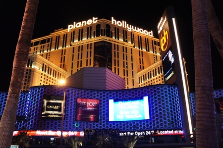 Las Vegas, Nevada - September 1 2011 : Night view of Planet Hollywood Resort and Casino in Las Vegas, Nevada
