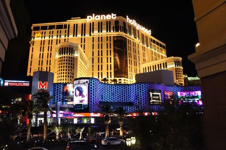 Las Vegas, Nevada - September 1 2011 : Night view of Planet Hollywood Resort and Casino in Las Vegas, Nevada Editorial