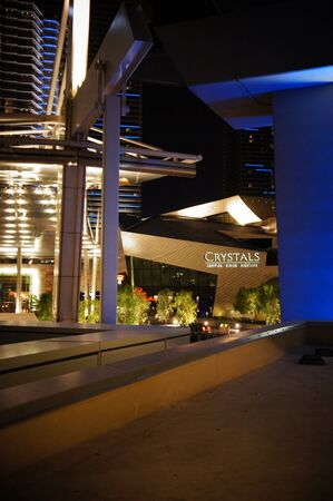 Las Vegas, Nevada - September 1 2011 : Crystals retail and entertainment at CityCenter showcases luxury retailers, innovative  restaurants and eclectic art galleries in Las vegas, Nevada