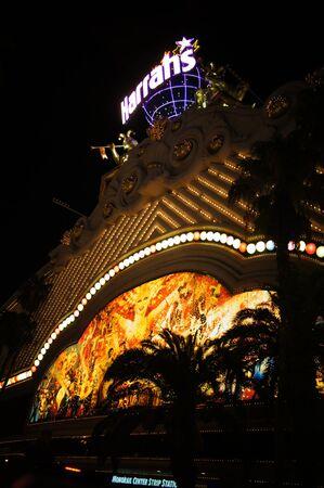 Las Vegas, Nevada - September 2 2011: Harrahs Hotels, Resorts and Casinos in Las Vegas, Nevada