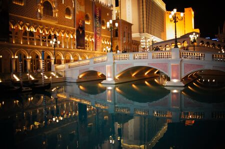 nightime:  Las Vegas, Nevada - September 1 2011 : The Venetian Las Vegas Casino, Hotel and Resort in Las Vegas, Nevada