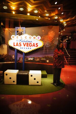 Las Vegas, Nevada - September 1 2011 : Favourite celebrity wax figures at the world famous tourist attraction, Madame Tussauds in Las Vegas, Nevada, USA