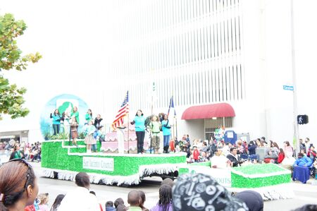 Houston, Texas - November 24, 2011 : The 62nd Annual Holiday Parade presented by H-E-B comes to life on the streets of downtown Houston,  Texas Stock Photo - 11459109