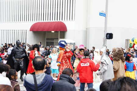 Houston, Texas - November 24, 2011 : The 62nd Annual Holiday Parade presented by H-E-B comes to life on the streets of downtown Houston,  Texas Stock Photo - 11459060