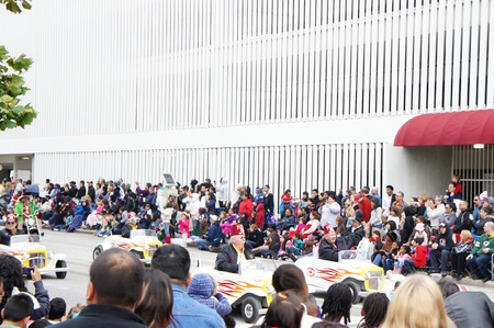 Houston, Texas - November 24, 2011 : The 62nd Annual Holiday Parade presented by H-E-B comes to life on the streets of downtown Houston,  Texas
