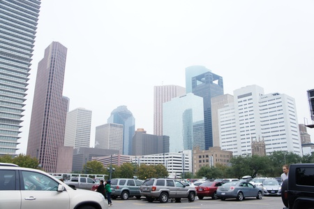 Houston, Texas - November 24, 2011 : Downtown Houston is the largest business district of Houston, Texas, United States Stock Photo - 12513416