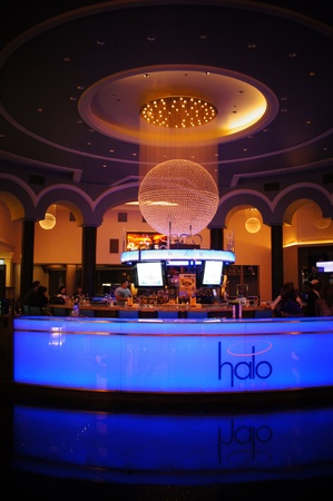 Las Vegas, Nevada - September 2 2011:  Halo Bar at Planet Hollywood in Fabulous Las Vegas Stock Photo - 14682938