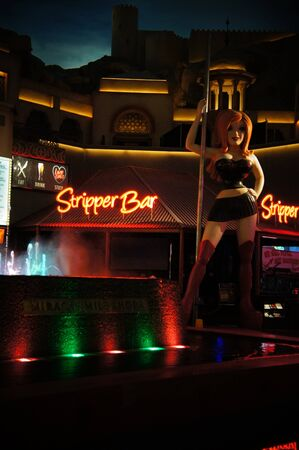Las Vegas, Nevada - September 2 2011: Stripper Bar is the ultimate Sin City experience, Located at Miracle Mile Shops at Planet Hollywood, Las Vegas, Nevada Stock Photo - 14682936