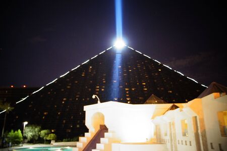 Las Vegas, Nevada - September 2 2011: The light of the Luxor, Luxor Hotel and Casino Hotel - Las Vegas - United States