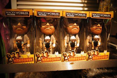 bobble: Las Vegas, Nevada - September 2 2011: The Hangover - Action Figures, Toys, Bobble Heads, Collectibles sold in Las Vegas Souvenir Shop Editorial