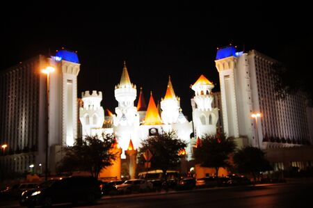 Las Vegas, Nevada - September 2 2011: Excalibur Casino and Hotel, named for the mythical sword of King Arthur,  features the Arthurian theme in Las Vegas Strip, Las Vegas, Nevada Editorial