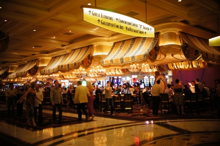 Las Vegas, Nevada, - September 3 2011: A Las Vegas Casino legacy, the Bellagio provides a casino experience from which all others draw inspiration