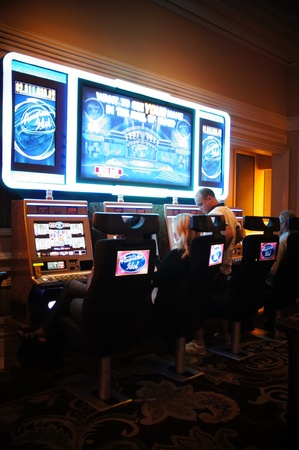 Las Vegas, Nevada, - September 3 2011: Bellagio is home to the most dynamic and exciting slot action in Las Vegas. The slot floor features over 2,300 reel, video reel and video poker games with jackpots and progressives often growing into the millions