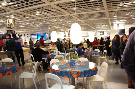 Houston, Texas - January 14 2012 : IKEA Bring Your Own Friend Day. A day of rewarding friendships at IKEA