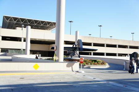 Houston, Texas - Jan 19 2013 Aeroporto William P Hobby é o mais antigo aeroporto comercial Houston s e foi seu aeroporto comercial primária até o Aeroporto Houston Intercontinental agora Aeroporto Intercontinental George Bush abriu em 1969 Editorial