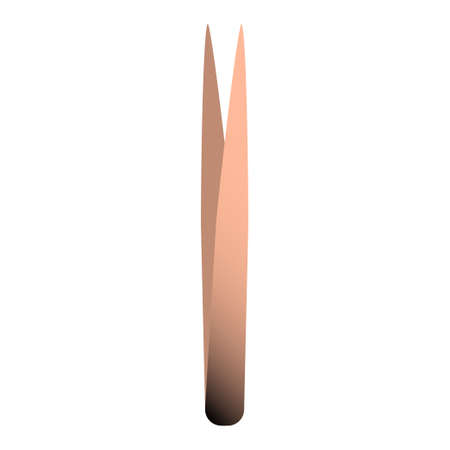 Tweezers for manicure. Rose gold and black gradient. Vector illustration. Vectores