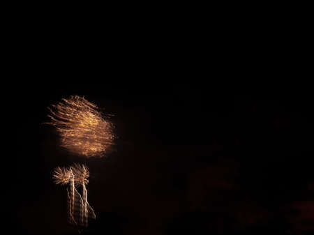 light painting by fireworks at night fallas holidays event
