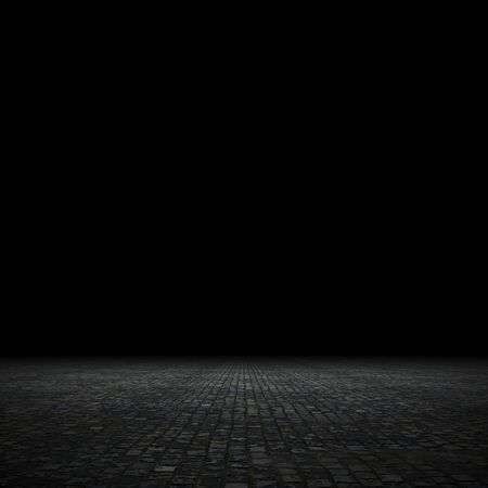 Empty spot lit dark background, 3d render