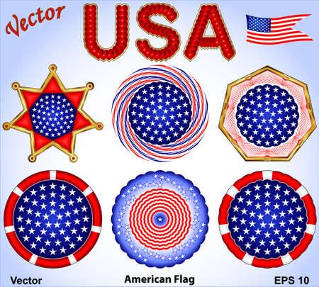 patriotic america: American Flag Illustration
