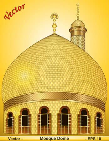cúpula de mezquita Ilustración de vector
