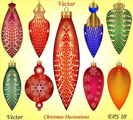 christmas accessories: Christmas Accessories Illustration