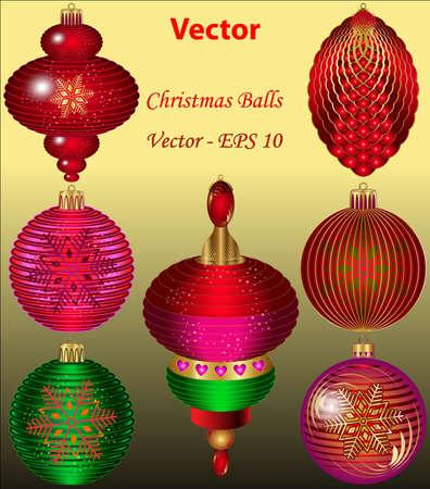 Christmas Balls Stock Vector - 15081254