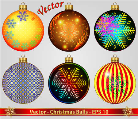 Christmas Balls Stock Vector - 15081242
