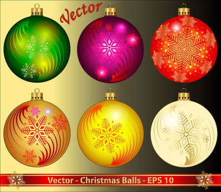 Christmas Balls Stock Vector - 15081183