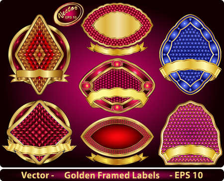 framed: Golden Framed Labels