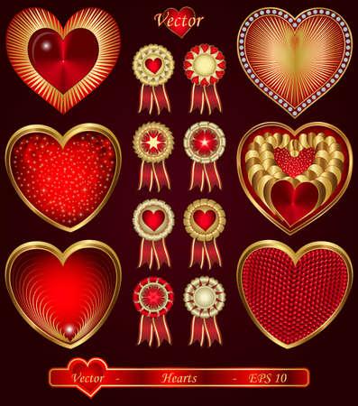 Hearts Stock Vector - 15085593
