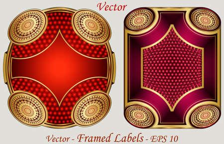 Framed Labels Stock Vector - 15081318