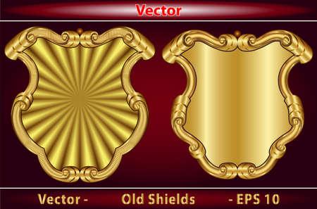 escudo de armas: Escudos Antiguo Vectores