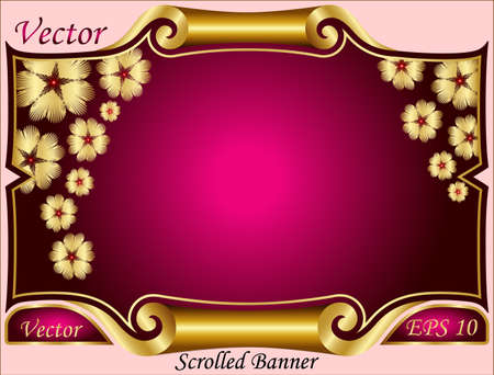 Scrolled Banner Vector